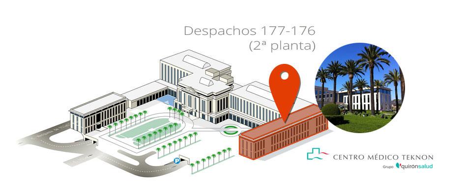 mapa despacho Institut Vascular García-Madrid